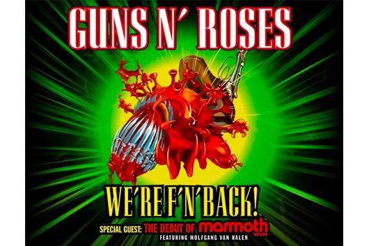 GUNS N' ROSESが今夏~秋のUSツアーを発表! 特別ゲストはウルフギャング・ヴァン・ヘイレン!