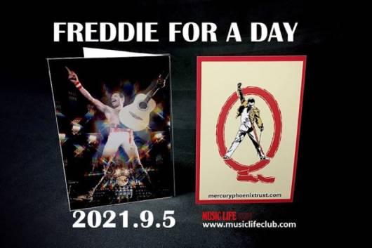 QUEENのフレディ・マーキュリーの誕生日を祝福する無料配信トーク・イベント『FREDDIE FOR A DAY 2021』の詳細発表! 当日9月5日(日)はサプライズ発表もあり!