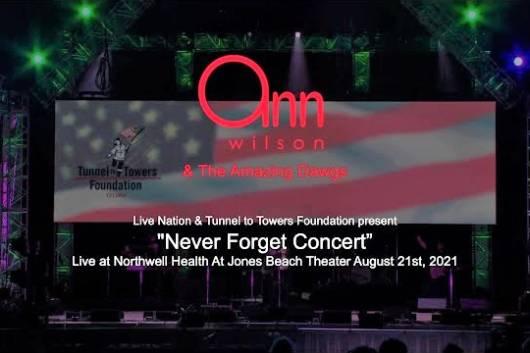 HEARTのアン・ウィルソンが今年8月21日のチャリティ・イベント『NEVER FORGET CONCERT』出演時のプロショット映像を公開! QUEENやAEROSMITHのカヴァーも披露!